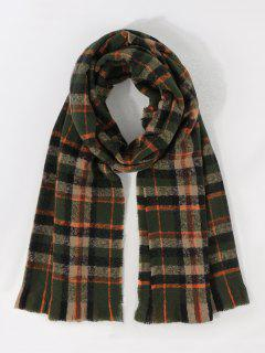 Colorblock Plaid Print Long Scarf - Multi-d