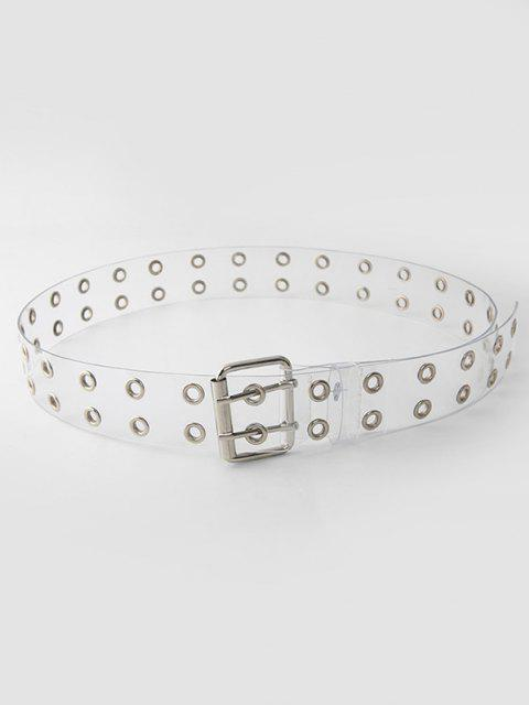 chic Punk Transparent Grommet Buckle Belt - TRANSPARENT  Mobile