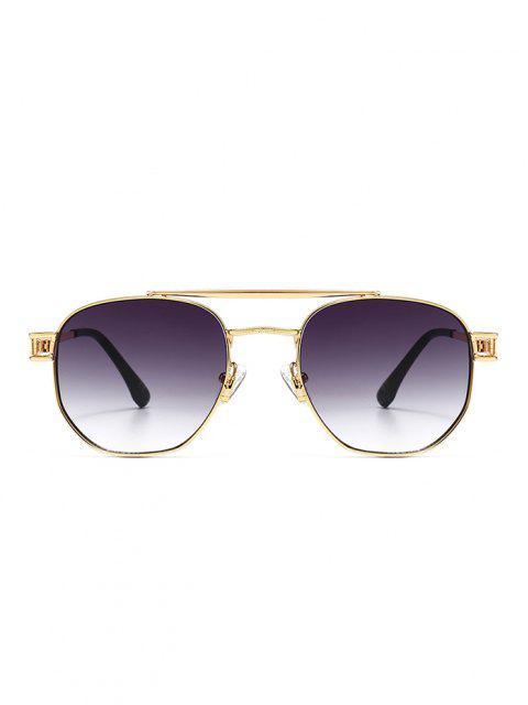 women Retro Crossbar Metal Sunglasses - GRAY  Mobile