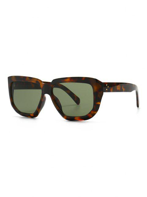 sale Rivet Oversized Irregular Sunglasses - DARK GREEN  Mobile