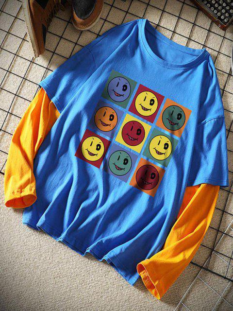 Vindo colhida camiseta sexta-feira  's - Azul 3XL Mobile
