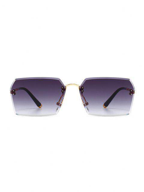 Óculos de Sol Esculpido com Moldura Metálica - Preto  Mobile
