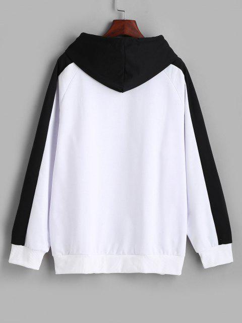 Raglan Sleeve Oversize Panda Graphic Hoodie - متعددة-A M Mobile