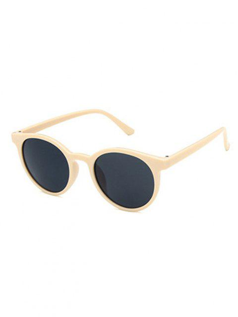 outfits Retro Round UV Protection Sunglasses - LIGHT YELLOW  Mobile