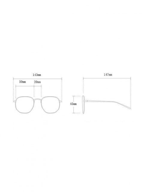 shop Retro Round UV Protection Sunglasses - BLACK  Mobile