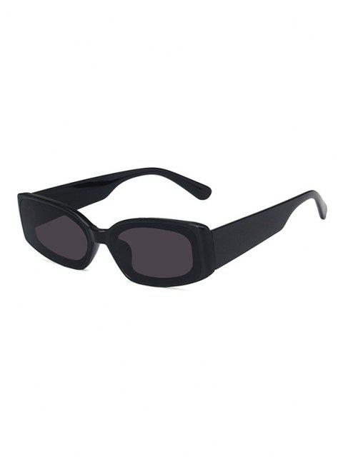 shops Rectangle Wide Temple Sunglasses - BLACK  Mobile