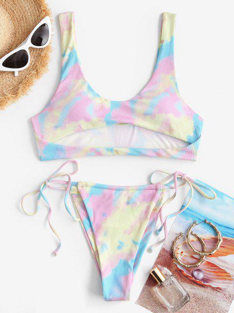 ZAFUL Maillot de Bain Bikini Teinté à Côté - Multi M Mobile