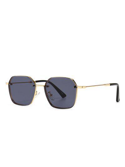 Metal Anti UV Irregular Sunglasses - Black