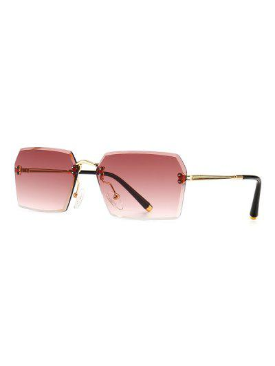 Ombre Cutting Edge Irregular Sunglasses - Red Wine