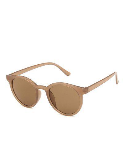 Retro Round UV Protection Sunglasses - Sepia