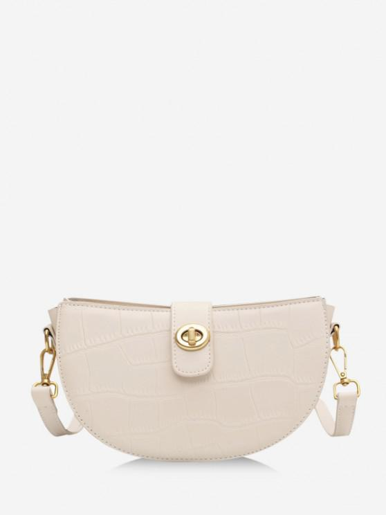 buy Semicircle Textured Crossbody Bag - BEIGE