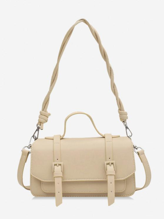 Twist Strap Crossbody Messenger Bag - كاكي