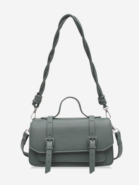 best Twist Strap Crossbody Messenger Bag - LIGHT GREEN