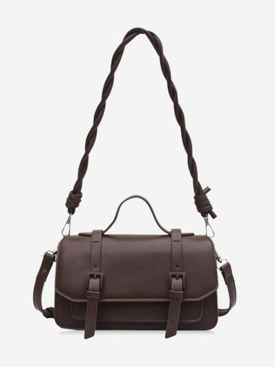 new Twist Strap Crossbody Messenger Bag - COFFEE