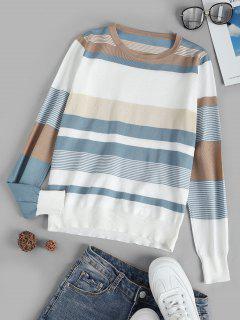 Camisola De Malha Listrada - Branco
