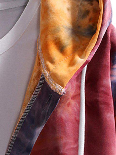 Krawattenfärbender Hängender Schulter Kapuzenjacke - Rot M Mobile