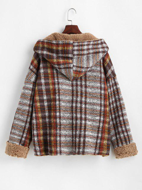 Manteau à Capuche Réversible Ouvert en Avant Fourré - Multi M Mobile