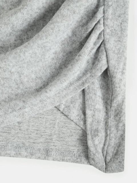 Heidekraut Strickkleid mit Rüschen - Hellgrau L Mobile
