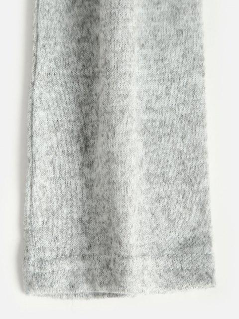 Top de Malha Colorida Barriga de Fora Cortado - Cinza claro L Mobile