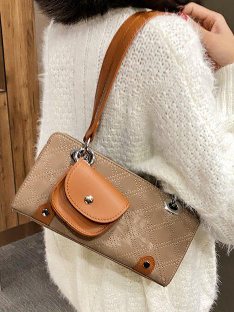 trendy Stitching Coin Bag Pendant Shoulder Bag - KHAKI  Mobile