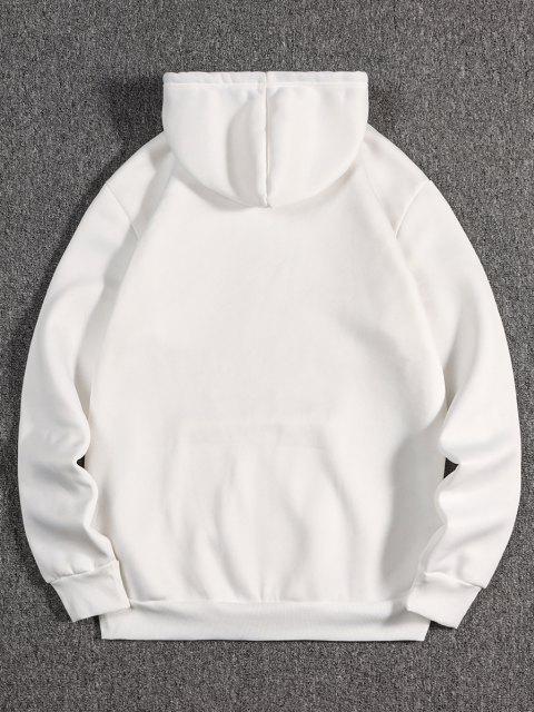 Tier Grafik Druck Orientalische Vlies Hoodie - Weiß XL Mobile