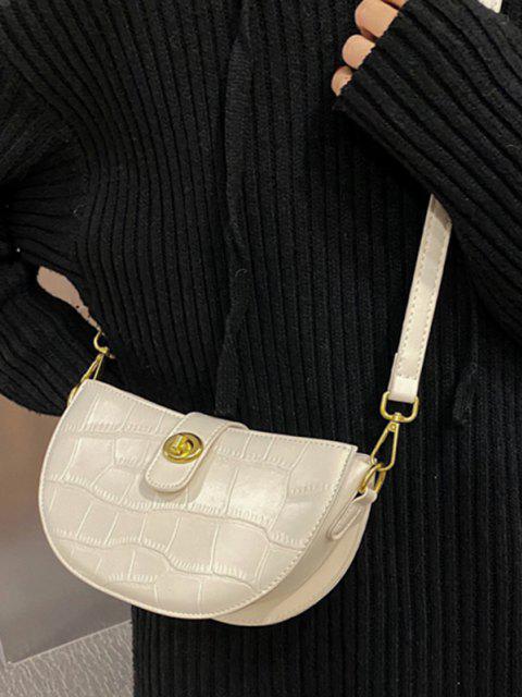 buy Semicircle Textured Crossbody Bag - BEIGE  Mobile