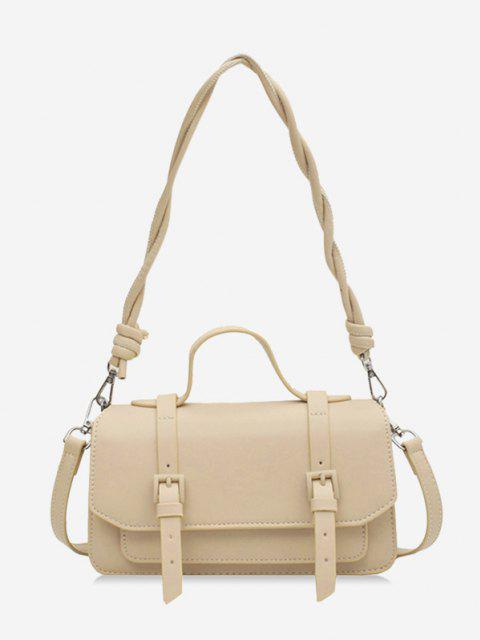 Twist Strap Crossbody Messenger Bag - كاكي  Mobile