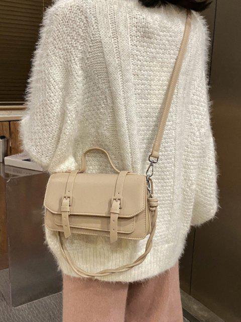 lady Twist Strap Crossbody Messenger Bag - KHAKI  Mobile
