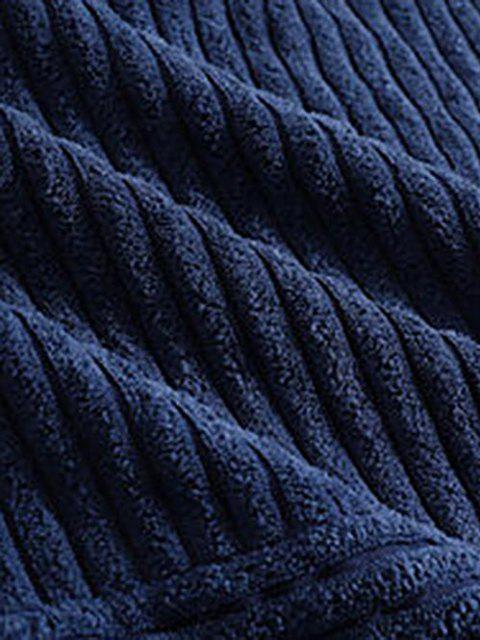 Moletom de Veludo de Algodão Bloco de Cores - Azul M Mobile