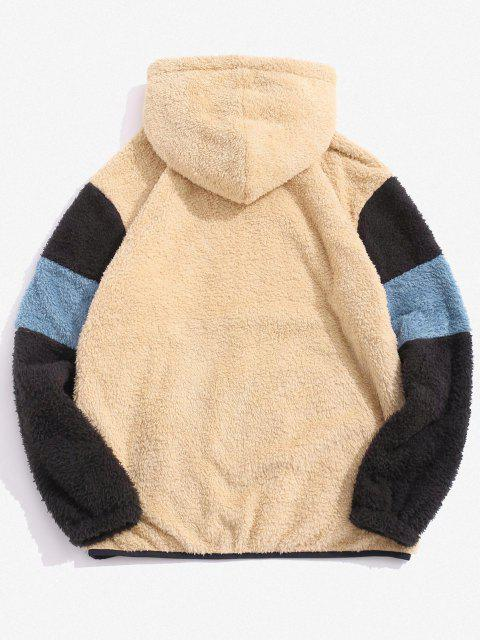 Dream Embroidery Colorblock Fluffy Hoodie - متعدد S Mobile