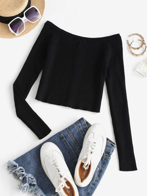 outfit Snap Button Ribbed Cropped Cardigan - BLACK S Mobile