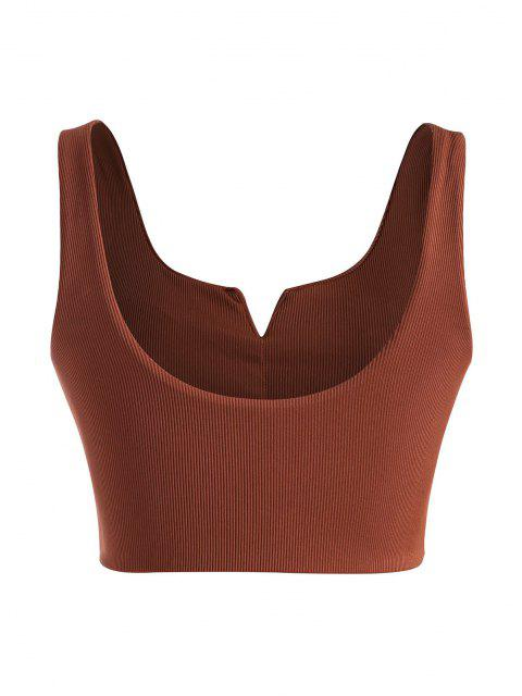 fashion ZAFUL Plus Size Ribbed V-wired Bikini Top - RED XXXXL Mobile