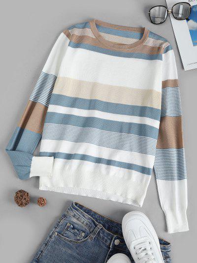 Tricot Pull Rayé - Blanc