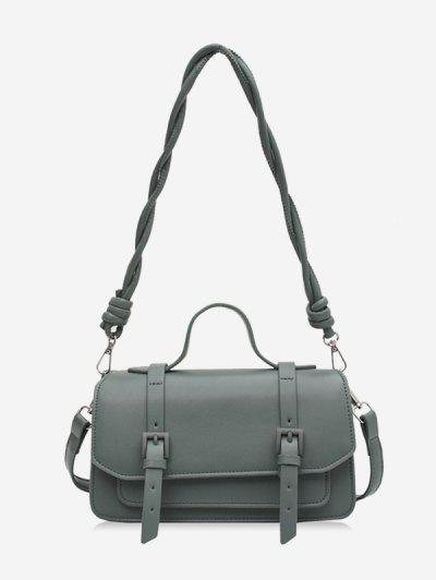 Twist Strap Crossbody Messenger Bag - Light Green