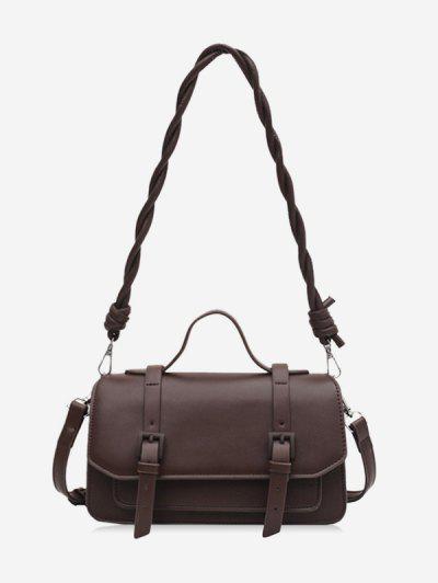 Twist Strap Crossbody Messenger Bag - Coffee