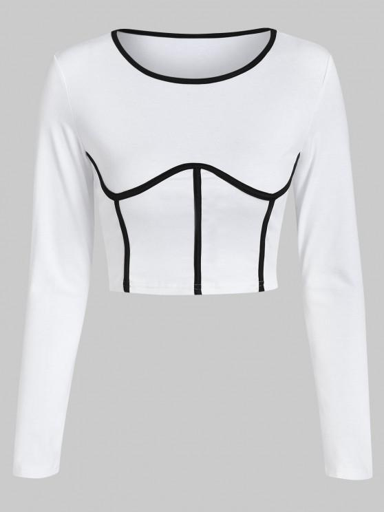trendy ZAFUL Underbust Cropped Tee - WHITE S