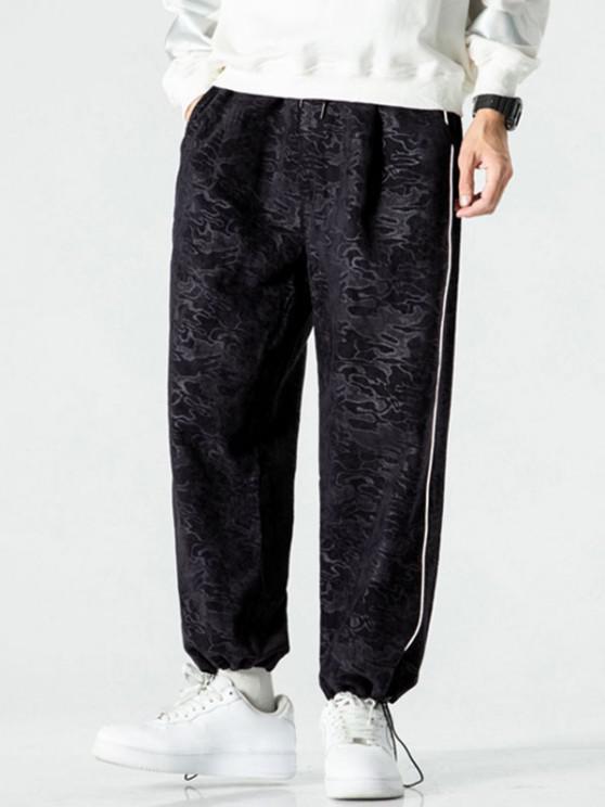 ladies Camouflage Print Beam Feet Pants - BLACK 3XL