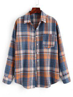 Chemise à Carreaux Avec Poches - Bleu Xl