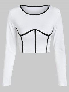 ZAFUL Underbust Cropped Tee - White L