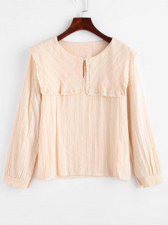 Preppy Puritan Collar Blouse - Pink