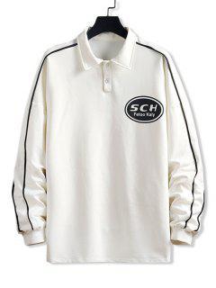 Sweat-shirt Pull-over Lettre Imprimée - Blanc L