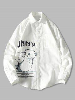 Lustiges Unendlichkeit Cartoon Katzen Druck Taschen Hemd - Weiß Xs