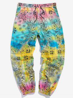 ZAFUL Pantalon De Sport Cachemire Teinté Imprimé - Multi 2xl