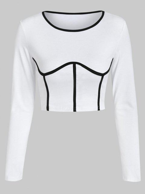 ZAFUL T-shirt Court Sous Poitrine - Blanc M Mobile