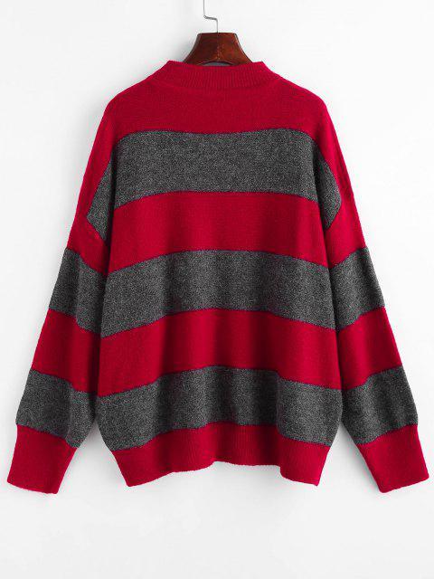 Suéter Tamanho Grande Ombro Caído com Recorte - Vermelho Um Tamanho Mobile