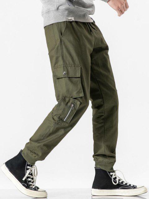 Reißverschluss Dekoration Mehrere Taschen Cargohose - Armeegrün S Mobile