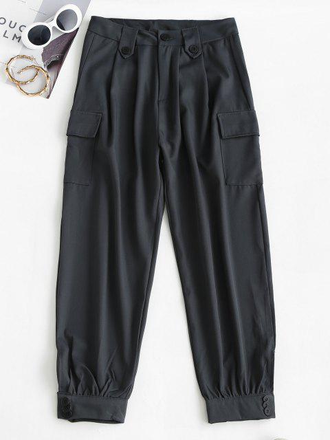 Taschen Neunte Cargo Hose mit Hoher Taille - Dunkelgrau XL Mobile