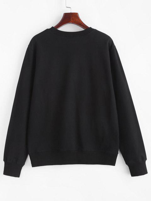 hot Halloween Skeleton Hand Pullover Sweatshirt - BLACK S Mobile