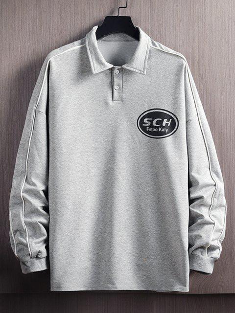 Sweat-shirt Pull-over Lettre Imprimée - Gris Clair XL Mobile