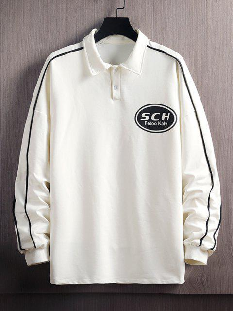 women's Letter Print Pullover Sweatshirt - WHITE XL Mobile